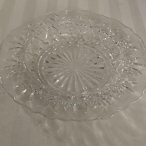 Clear glass trinket bowl